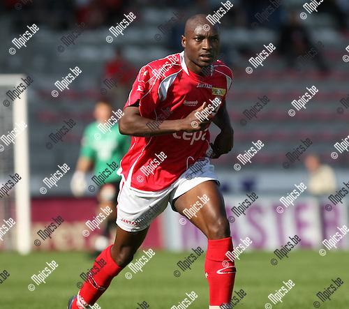 2008-09-14 / Voetbal / Antwerp FC - Sint-Truiden / Emmanuel Kenmogne..Foto: Maarten Straetemans (SMB)