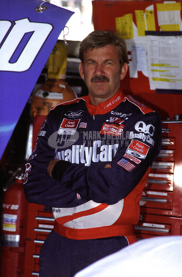 Nov. 1, 1997; Avondale, AZ, USA; NASCAR Winston Cup Series driver Dale Jarrett during the Dura Lube 500 at Phoenix International Raceway. Mandatory Credit: Mark J. Rebilas-