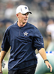 Dallas Cowboys head coach, Jason Garrett, in action during the pre- season game between the St. Louis Rams and the Dallas Cowboys at the Cowboys Stadium in Arlington, Texas. Dallas defeats St. Louis  20 to 19.