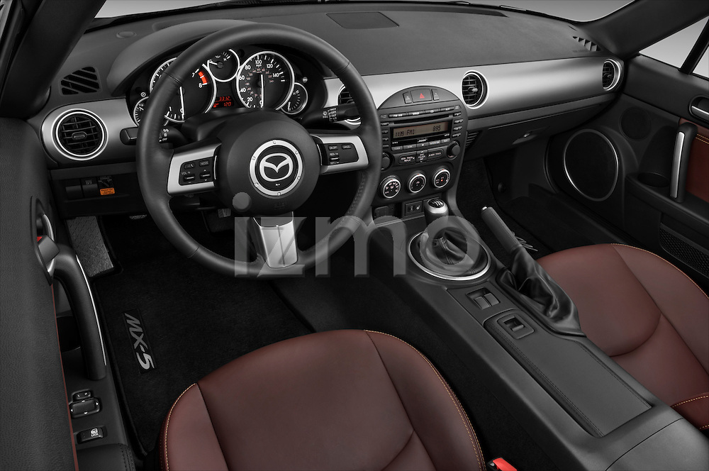 High angle dashboard view of a 2010 Mazda Miata MX5