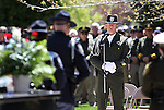 Storey County Deputy Shawn Mahan sings during the Nevada Law Enforcement Officers Memorial ceremony Thursday morning, May 5, 2011, on the Capitol grounds in Carson City, Nev..Photo by Cathleen Allison