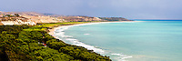 Sicily, panoramic photo of Capo Bianco Beach and the Mediterranean Sea in the Province of Agrigento, Sicily, Italy, Europe. This is a panoramic photo of Capo Bianco Beach and the Mediterranean Sea in the Province of Agrigento, Sicily, Italy, Europe.