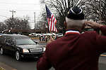 December 21, 2007. Mint Hill, NC.. A funeral was held for Cpl. Joshua C. Blaney in Charlotte, NC. Cpl. Blaney died on December 12 from injuries sustained when an IED exploded near his vehicle in Afghanistan. He was 25.. Around a hundred people lined the streets around the funeral home to honor Cpl. Blaney as his body was taken to the church for services.