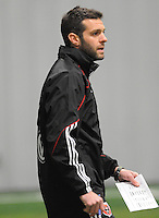 DC United coach Ben Olsen at the first official training session of the 2011 MLS season.  At Greenbelt Sportsplex, Friday January 28, 2011.
