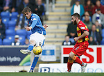 St Johnstone v Partick Thistle....17.10.15  SPFL     McDiarmid Park, Perth<br /> Murray Davidson and Steven Lawless<br /> Picture by Graeme Hart.<br /> Copyright Perthshire Picture Agency<br /> Tel: 01738 623350  Mobile: 07990 594431