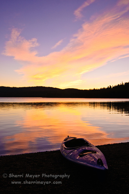 Gold Lake Sunrise, Lakes Basin, Northern California.