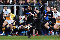 Taulupe Faletau of Bath Rugby goes on the attack. Heineken Champions Cup match, between Bath Rugby and Wasps on January 12, 2019 at the Recreation Ground in Bath, England. Photo by: Patrick Khachfe / Onside Images