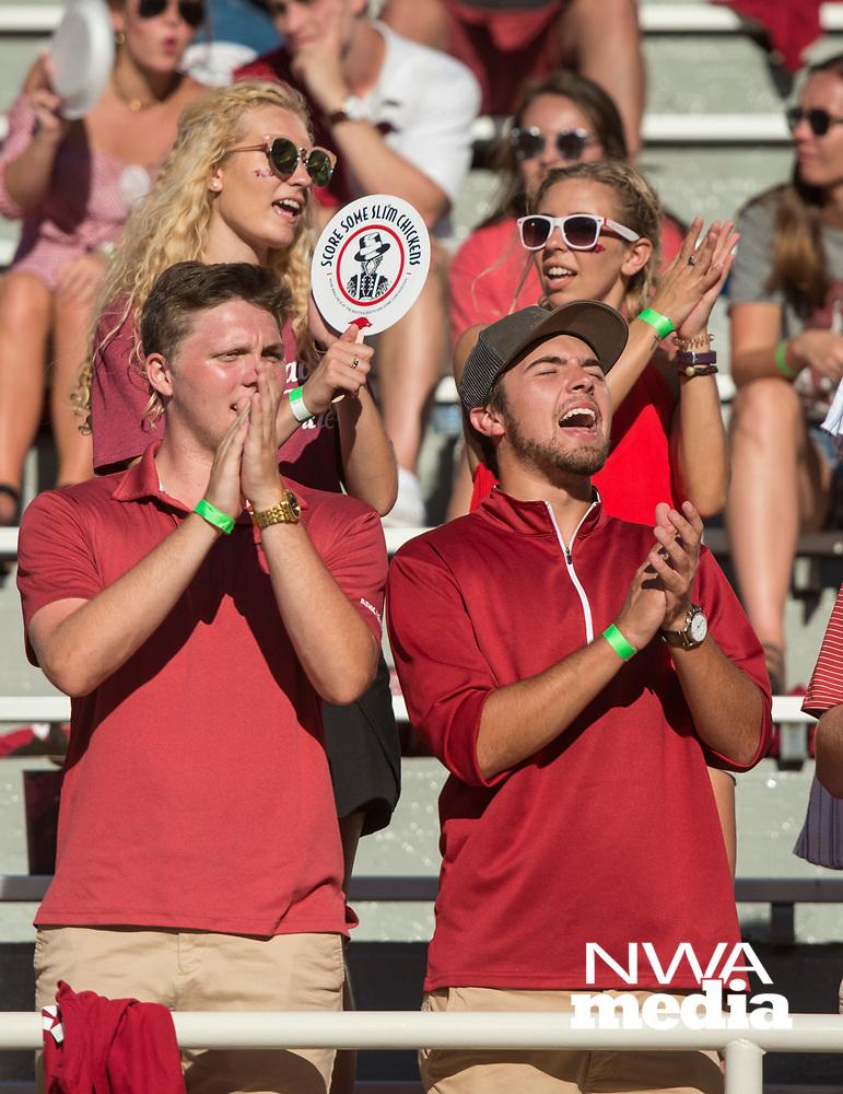 Hawgs Illustrated/Ben Goff<br /> Arkansas vs Eastern Illinois Saturday, Sept. 1, 2018, at Razorback Stadium in Fayetteville.