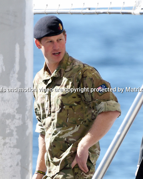 7 MAY 2015 SYDNEY AUSTRALIA<br /> <br /> NON EXCLUSIVE <br /> <br /> Prince Harry pictured at the Sydney Opera House after military exercises on Sydney Harbour.