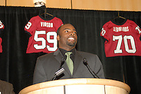 14 January 2007: Michael Okwo at the annual football banquet at McCaw Hall in Stanford, CA.