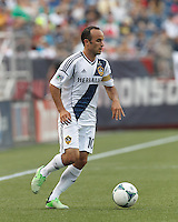 LA Galaxy forward Landon Donovan (10) looks to pass. In a Major League Soccer (MLS) match, the New England Revolution (blue) defeated LA Galaxy (white), 5-0, at Gillette Stadium on June 2, 2013.