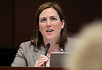 Nevada Sen. Becky Harris, R-Las Vegas, works in committee at the Legislative Building in Carson City, Nev., on Tuesday, March 17, 2015. <br /> Photo by Cathleen Allison