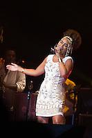SÃO PAULO - SP. 15.02.2017 - SHOW-SP. Mariene de Castro durante Show de Verão da Mangueira, nesta quarta-feira, 15, no Tom Brasil, zona sul de São Paulo. (Foto: Ciça Neder / Brazil Photo Press)
