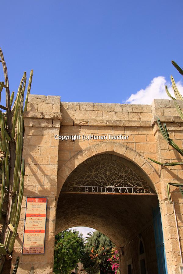 Israel, Shephelah, the Salesian Monastery at Beit Gemal built in 1873, the gate