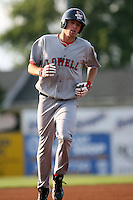 July 10th 2008:  Mitch Dening of the Lowell Spinners, Class-A affiliate of the Boston Red Sox, during a game at Dwyer Stadium in Batavia, NY.  Photo by:  Mike Janes/Four Seam Images