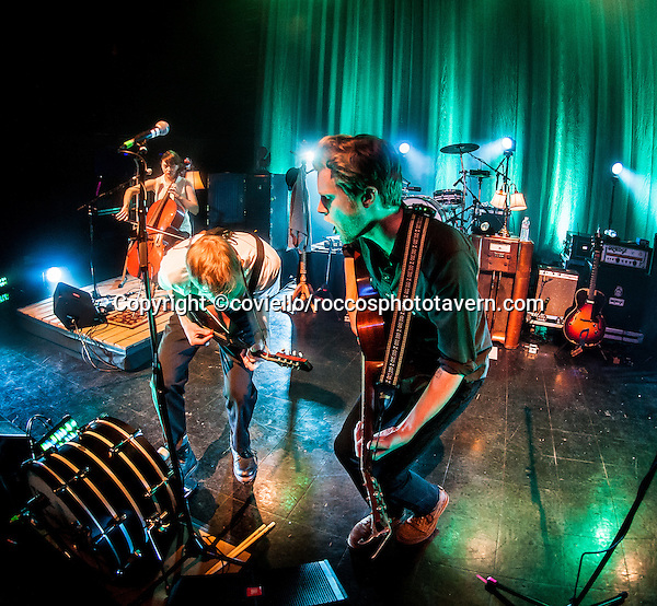 The Lumineers playing Boston House of Blues. Neyla Pekarek, Wesley Schultz, Jeremiah Caleb Fraites.