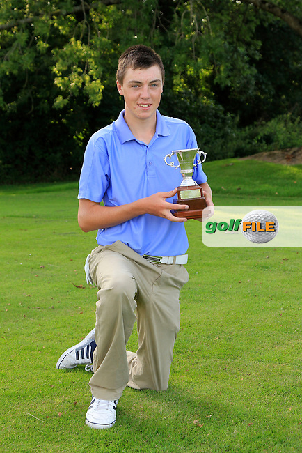 Kevin Le Blanc  (The Island) winner of the Irish Boys Under 15 Amateur Open Championship at the West Waterford Golf Club on Wednesday 21st August 2013 <br /> Picture:  Thos Caffrey/ www.golffile.ie