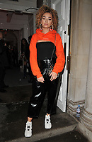 Ella Eyre at the Gigi Hadid x Maybelline Jetsettter Cosmetics Kit VIP launch party, Hotel Gigi, 93 Mortimer Street, London, England, UK, on Tuesday 07 November 2017.<br /> CAP/CAN<br /> &copy;CAN/Capital Pictures
