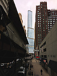 Chicago, Illinois, United States of America / USA; December 27, 2016 -- Wabash Avenue with Trump International Hotel and Tower / Trump Tower Chicago, a 98-stock-skyscraper condo-hotel -- Photo: © HorstWagner.eu