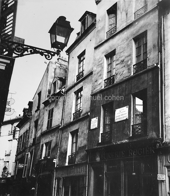Birthplace of Claude Debussy, 1862-1918, French composer, in St Germain en Laye, near Paris, c. 1950. Copyright © Collection Particuliere Tropmi / Manuel Cohen