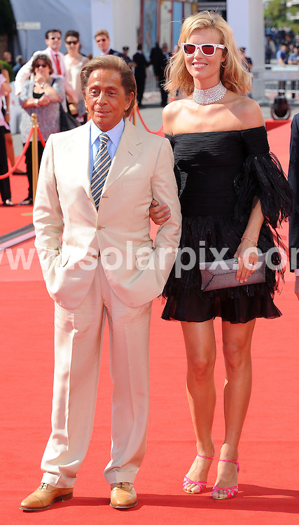 **ALL ROUND PICTURES FROM SOLARPIX.COM**.**WORLDWIDE SYNDICATION RIGHTS**.arrivals for the Valentino:The last Emperor premiere during the 65th Venice Film Festival at Sala Grande, Venice, Italy. August 28, 2008..This pic: Valentino and Eva Herzigova..JOB REF: 7137 SSD     DATE: 28_08_2008.**MUST CREDIT SOLARPIX.COM OR DOUBLE FEE WILL BE CHARGED* *UNDER NO CIRCUMSTANCES IS THIS IMAGE TO BE REPRODUCED FOR ANY ONLINE EDITION WITHOUT PRIOR PERMISSION*