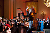 Mick Jagger performs I Cant Turn You Loose during the In Performance at the White House: Red, White and Blues concert in the East Room of the White House, February 21, 2012. .Mandatory Credit: Pete Souza - White House via CNP