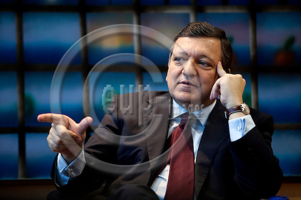 BRUSSELS - BELGIUM - 13 JULY 2010 -- Interview with Jose (José) Manuel BARROSO, President of the European Union. PHOTO: ERIK LUNTANG / EUP-Images