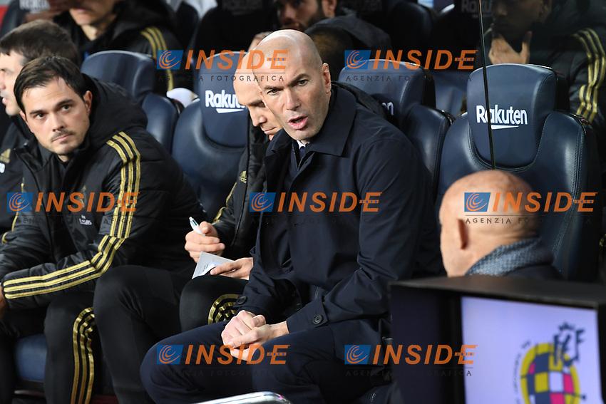 Zinedine Zidane <br /> <br /> 18/12/2019 <br /> Barcelona - Real Madrid<br /> Calcio La Liga 2019/2020 <br /> Photo Paco Largo Panoramic/insidefoto <br /> ITALY ONLY
