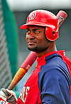 6 March 2009: Washington Nationals' outfielder Joel Guzman prepares to take batting practice prior to a Spring Training game against the Baltimore Orioles at Fort Lauderdale Stadium in Fort Lauderdale, Florida. The Orioles defeated the Nationals 6-2 in the pre-season Grapefruit League matchup. Mandatory Photo Credit: Ed Wolfstein Photo