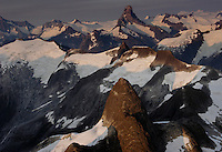 Ice fields east of Petersburg--Devils Thumb and LaConte and other glaciers.