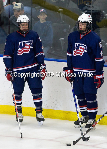 Matthew Nieto (US - 18), Jon Merrill (US - 6) - The US defeated Canada 2-1 at the Urban Plains Center in Fargo, North Dakota, on Friday, April 17, 2009, in their semi-final match during the 2009 World Under 18 Championship.