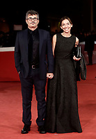 Il regista italiano Paolo Genovese posa con Federica Rizzo sul red carpet per la presentazione del film &quot;The Place &quot; durante la Festa del Cinema di Roma, 2 novembre 2017.<br /> Italian director Paolo Genovese poses on the red carpet to present the movie &quot;The place&quot; during the international Rome Film Festival at Rome's Auditorium, November 2, 2017.<br /> UPDATE IMAGES PRESS/Isabella Bonotto
