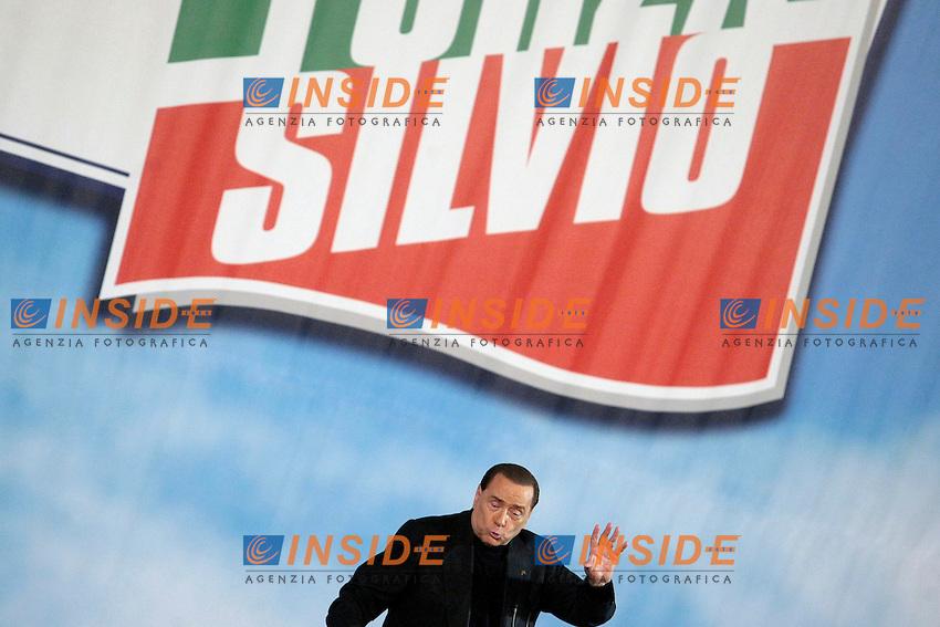 Silvio Berlusconi<br /> Roma 08/12/2013 Auditorium della Tecnica. Manifestazione dei Club Forza Silvio.<br /> Convention of Clubs Forza Silvio.<br /> Photo Samantha Zucchi Insidefoto