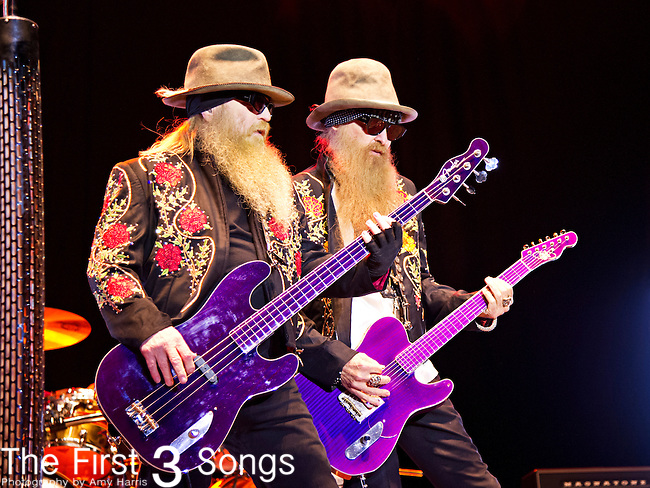 Dusty Hill and Billy Gibbons of ZZ Top perform during the The Beale Street Music Festival in Memphis, Tennessee.