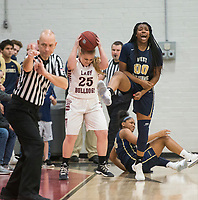 NWA Democrat-Gazette/BEN GOFF @NWABENGOFF<br /> Sarah Vogel (25) of Springdale and Shania Wilson (00) of Bentonville West react after Bentonville West turned over the ball with only seconds left in the game Friday, Jan. 12, 2018, in Bulldog Arena at Springdale High.