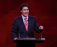April 22 , 2014 -  Justin Trudeau,Leader,  Liberal Party of Canada deliver Keynote Address at the 2014 Biennial Convention in Montreal. <br /> <br /> Justin Trudeau, chef du Parti liberal du Canada prononce son discour principal devant les delegue(e)s lors du  Congres biennal liberal a Montreal,  samedi le 22  fevrier 2014.<br /> <br /> Photo : (c) Pierre Roussel - Images Distribution