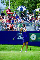 So Yeon Ryu (KOR) watches her tee shot on 1 during Sunday's final round of the 2017 KPMG Women's PGA Championship, at Olympia Fields Country Club, Olympia Fields, Illinois. 7/2/2017.<br /> Picture: Golffile | Ken Murray<br /> <br /> <br /> All photo usage must carry mandatory copyright credit (&copy; Golffile | Ken Murray)