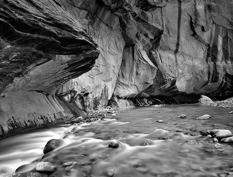Virgin River and canyon. Zion National Park, Utah