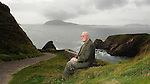 Micheal Kearney, the oldest surving person born on the Blasket Islands pictured this week on the path to Dun Chaoin pier which leads the to the island ferry.<br /> Picture by Don MacMonagle<br /> Story by Majella O'Sullivan
