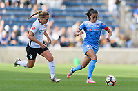 Bridgeview, IL - Sunday June 25, 2017: Christie Pearce, Christen Press during a regular season National Women's Soccer League (NWSL) match between the Chicago Red Stars and Sky Blue FC at Toyota Park. The Red Stars won 2-1.