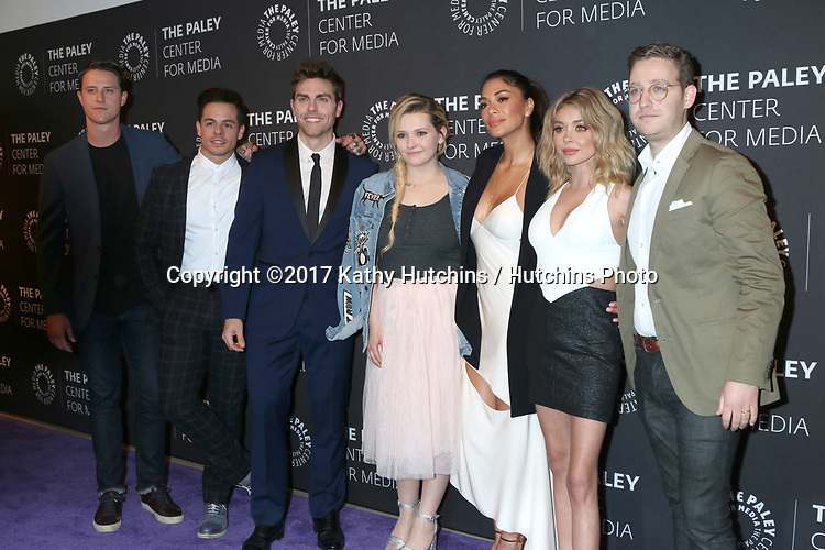 """LOS ANGELES - MAY 18:  Shane Harper, Beau Casper Smart, Colt Prattes, Abigail Breslin, Nicole Scherzinger, Sarah Hyland, Trevor Einhorn at the 2017 PaleyLive LA - """"Dirty Dancing: The New ABC Musical Event"""" Premiere Screening And Conversation at the Paley Center for Media on May 18, 2017 in Beverly Hills, CA"""