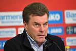 10.03.2018, BayArena, Leverkusen , GER, 1.FBL., Bayer 04 Leverkusen vs. Borussia Moenchengladbach<br /> im Bild / picture shows: <br /> Pressekonferenz (PK) nach dem Spiel,  Dieter Hecking Trainer/Headcoach (Gladbach), <br /> <br /> <br /> Foto © nordphoto / Meuter