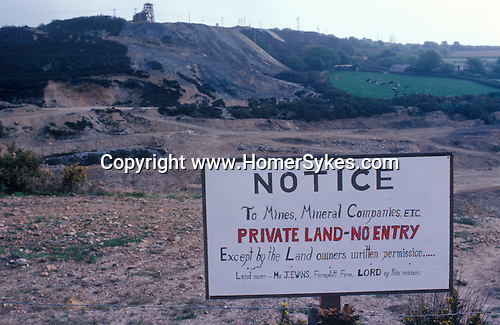 Tin Mining Cornwall England 1978. 1970s Privately owned open cast mine. Land owner Mr J Evans of Fernslatt Farm, who was Lord of the Manor.