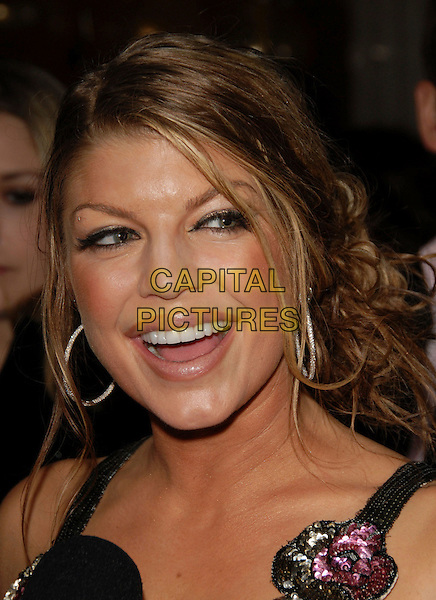 FERGIE - STACEY FERGUSON.Fergie's Birthday Party at Citizen Smith Nightclub in Hollywood, California, USA. .March 28th, 2006.Ref: DVS.Black Eyed Peas headshot portrait hoop earrings.www.capitalpictures.com.sales@capitalpictures.com.Supplied By Capital PIctures