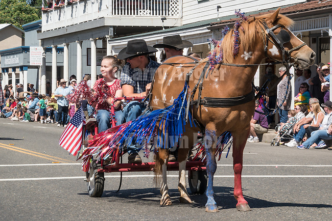 A Viking Picnic, theme for the 138th annual Ione Homecoming Parade and celebration, Main Street and Howard Park, Ione, Calif.