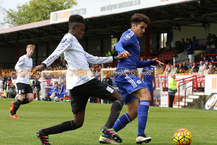Beni Baningime of Everton gets ready to tackle Chelsea's Yasin El Mhanni during Chelsea Under-21 vs Everton Under-21, Barclays U21 Premier League Football at the EBB Stadium on 2nd May 2016