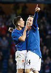 ian Black and Barrie McKay after the young Rangers man scores with a stunning shot from outside the box