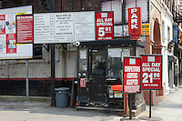 A parking lot on 46th Street in Manhattan