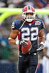 3 January 2010: Buffalo Bills' running back Fred Jackson (22) in action during a game against the Indianapolis Colts on a cold, snowy, final game of the season at Ralph Wilson Stadium in Orchard Park, New York. Jackson broke the 1000 yard mark for rushing, as the Bills defeated the Colts 30-7. Mandatory Credit: Ed Wolfstein Photo