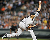Baltimore, MD - August 31, 2009 -- New York Yankees pitcher Andy Pettitte (46) works in the seventh inning against the Baltimore Orioles at Oriole Park at Camden Yards in Baltimore, MD on Monday, August 31, 2009.  The Yankees won the game 5 - 1..Credit: Ron Sachs / CNP.(RESTRICTION: NO New York or New Jersey Newspapers or newspapers within a 75 mile radius of New York City)